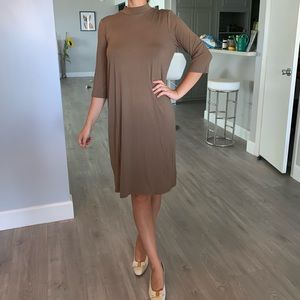 NWT Eileen Fisher casual beige dress